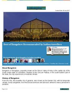 Download Bangalore Travel guide in PDF format