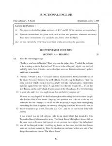 Download CBSE Class 12 Functional English Question Paper 4 ...