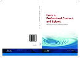 Download Code Of Professional Conduct And Bylaws - AICPA