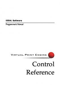 Download Control Reference - IDEAL Software GmbH
