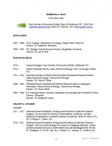 Download CV - Cary Institute of Ecosystem Studies