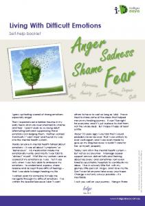 Download Difficult Emotions Self Help Booklet