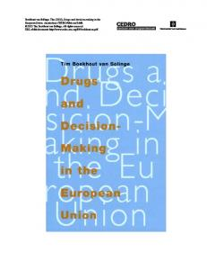 Download Drugs and decision-making in the European Union