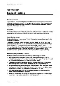 Download Impact testing (PDF) - Nuffield Foundation