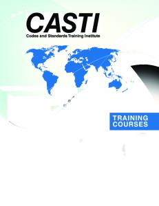 Download Our Complete Tranining Catalogue (PDF) - CASTI