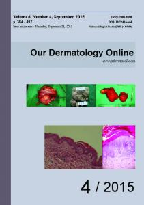 Download - Our Dermatology Online journal