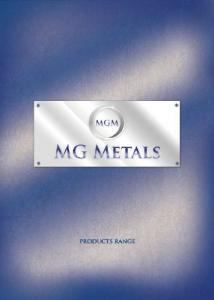 Download our new Catalogue NOW - MG Metals
