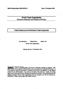Download paper in pdf format - World Trade Organization