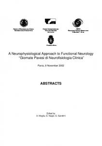 download PDF of this article - Functional Neurology