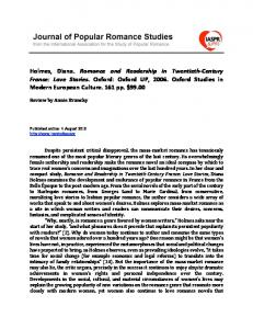 Download PDF of this content. - Journal of Popular Romance Studies