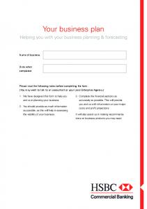 Download pdf: Your Business Plan - HSBC