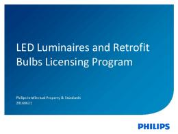 Download Presentation - Intellectual Property & Standards - Philips