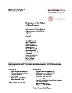 Download Publication - Mathematica Policy Research