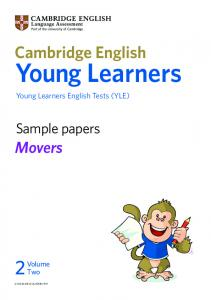 Download sample Cambridge English: Movers exam papers