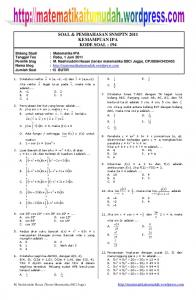 Download soal matematika ipa snmptn 2011 - WordPress.com