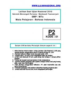 Download Soal UN Bahasa Indonesia