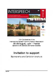 Download Sponsorship Opportunities - Interspeech 2013