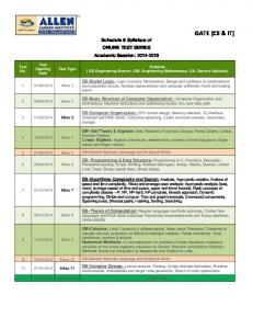 Download Syllabus - gate.onlinetestseries.in - Online Test Series for ...