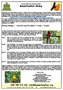 download the birdwatching flyer in pdf - MamboViewPoint