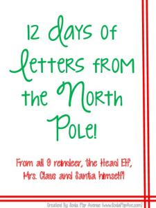 Download the Green and Red 12 Letters of Christmas Here.