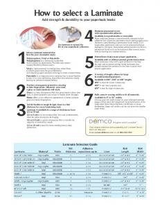 Download the Laminate Selection Guide - Demco
