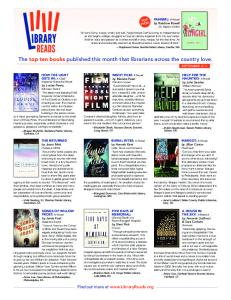 Download the PDF version of this list - LibraryReads