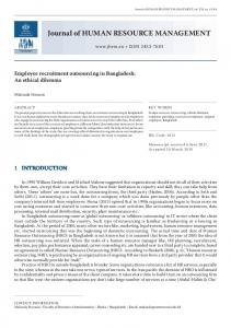 Download this Article as pdf - Journal of Human Resource Management