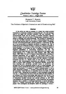 Download this article - Qualitative Sociology Review