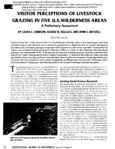 Download this publication - Aldo Leopold Wilderness Research ...