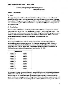 Download - What Works on Wall Street