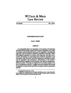 Download - William & Mary Law Review