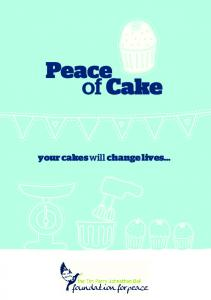 Download your Peace of Cake Fundraising Pack