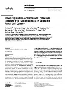 Downregulation of Fumarate Hydratase Is Related to ...
