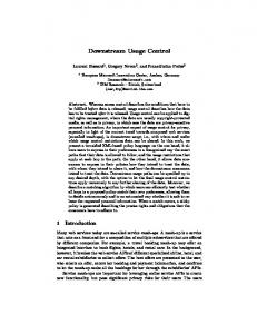 Downstream Usage Control - Gregory Neven