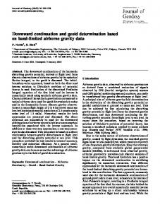 Downward continuation and geoid determination ... - Springer Link