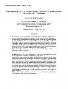 DOWNWARD SURFACE FLUX COMPUTATIONS IN A ... - SciELO
