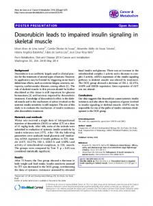 Doxorubicin leads to impaired insulin signaling in ... - Springer Link