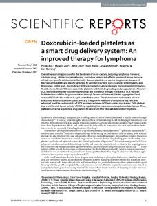 Doxorubicin-loaded platelets as a smart drug delivery system: An