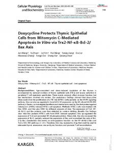 Doxycycline Protects Thymic Epithelial Cells from ...