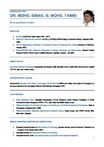 DR. MOHD. ISMAIL B. MOHD. TAMBI - Asian Journal of Andrology