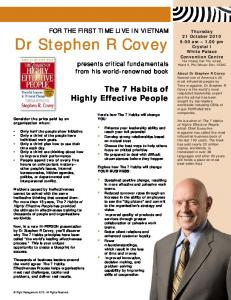 Dr Stephen R Covey - Constant Contact