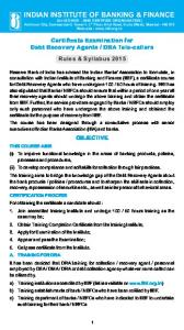 DRA Training - Indian Institute of Banking & Finance
