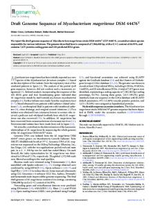 Draft Genome Sequence of Mycobacterium