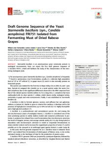 Draft Genome Sequence of the Yeast Starmerella