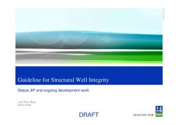 DRAFT Guideline for Structural Well Integrity