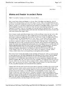 drama and theater in ancient Rome