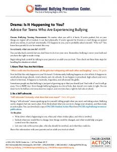 Drama: Is It Happening to You?