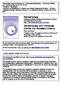 Dramatherapy with homeless clients: the necessary ...