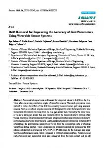 Drift Removal for Improving the Accuracy of Gait Parameters ... - MDPI