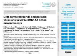 Drifts, trends and periodic variations in MIPAS ozone - CiteSeerX